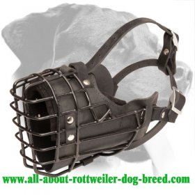 High Quality Wire Cage Dog Muzzle for Rottweiler