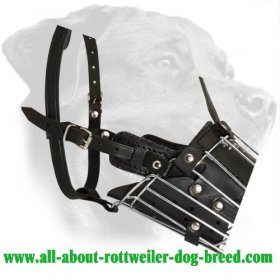 'No Mash' Super Comfortable Metal Basket Dog Muzzle for Rottweiler