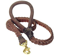Braided Leather Dog Leash 4 foot-Braided Lead Rottweiler