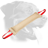 'Two Fisted' Jute Rottweiler Bite Builder and Sleeve Two-in-One