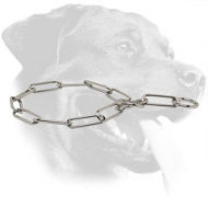 Stainless Steel Rottweiler Choke Collar for Behavior Correction, 1/6 inch (4.0 mm) Link Diameter