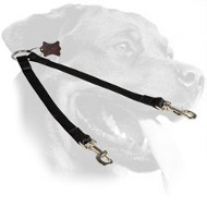 Nylon Rottweiler Coupler with Nickel Plated Snap Hooks