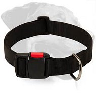 Nylon Collar with quick release buckle for Rottweiler