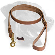 Braided Rottweiler Leather Leash for Walking and Training