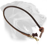 Leather Rottweiler Leash for Easy Obedience Training