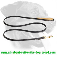 Exclusive Stitched Leather Lead for Rottweiler