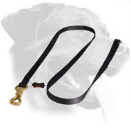 Rottweiler Dog Leash with Brass Massive Snap Hook