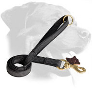 Nylon Rottweiler Leash with Firm Grip Handle