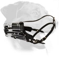 Super Comfortable Metal Basket Dog Muzzle for Rottweiler