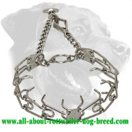Rottweiler Pinch Collar with Swivel and Quick Release Snap Hook - 3.99mm (1/6 inch)