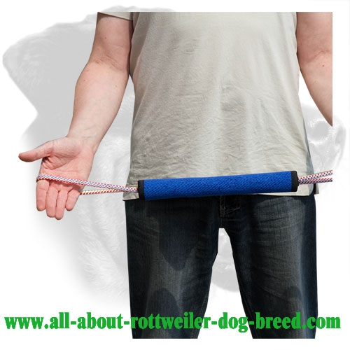 French Linen Rottweiler Bite Roll Equipped with Two Handles