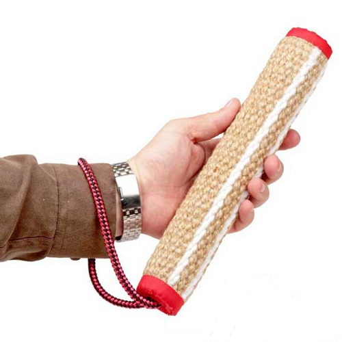 Rottweiler Bite Roll Made of Jute with One Handle