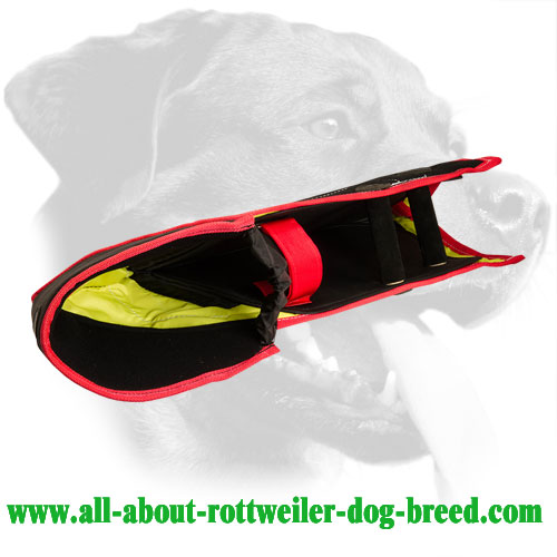 French Linen Rottweiler Bite Sleeve Equipped with Adjustable Straps