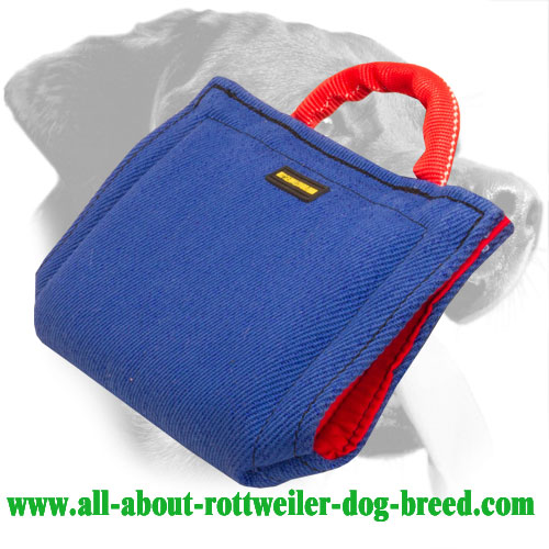 French linen Rottweiler Bite Sleeve Equipped with Safe Handle
