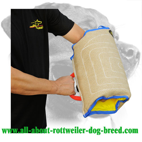 Jute Rottweiler Bite Sleeve Equipped with Comfy Handle
