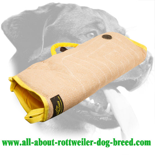 Jute Rottweiler Bite Sleeve Equipped with Padded Handle