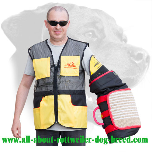 Rottweiler Bite Sleeve with Plastic Shoulder Protector