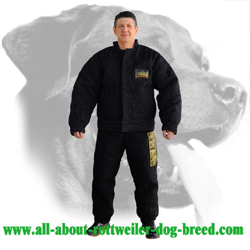 French Linen Rottweiler Bite Suit Equipped with Velcro Closure