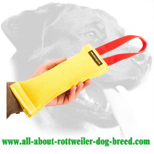 French Linen Rottweiler Bite Tug Equipped with One Handle