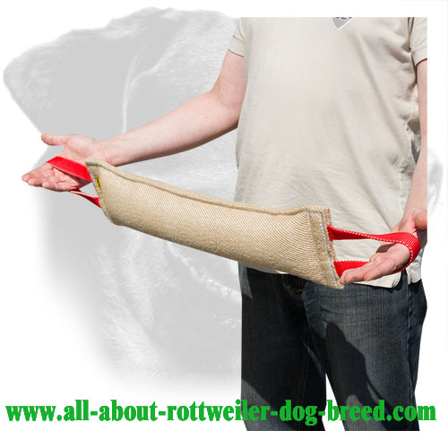 Rottweiler Bite Tug Made of Reliable Jute