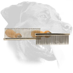 Steel Rottweiler Comb Equipped with Long Teeth