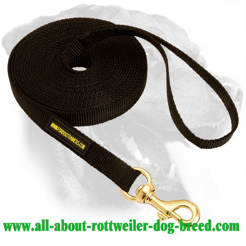 Exclusive Rottweiler Breed Nylon Leash for patrolling