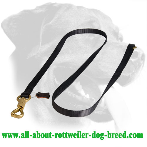 Well Stitched Nylon Rottweiler Leash