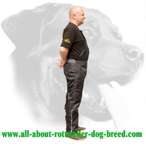 Nylon Rottweiler Protection Pants Equipped with Leg Zippers