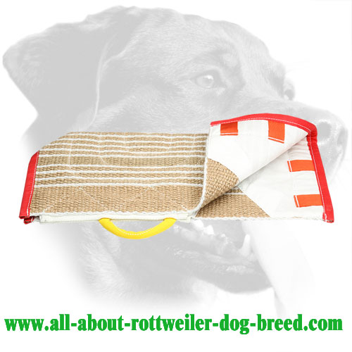 Jute Rottweiler Sleeve Cover Equipped with Control Handle