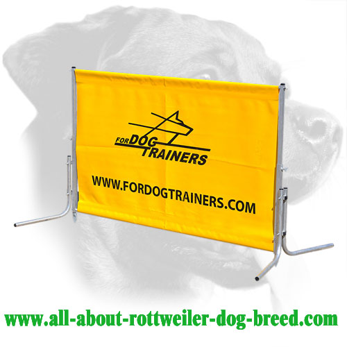 Stable Construction Rottweiler Training Barrier