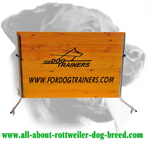 Stable Rottweiler Training Barrier Made of Wood