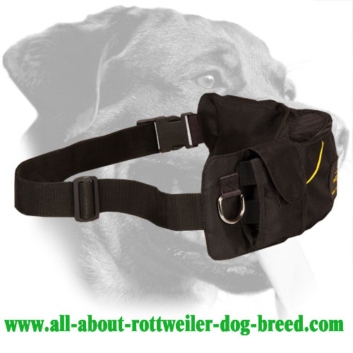 Rottweiler Training Pouch Made of Nylon with Quick Lock Buckle