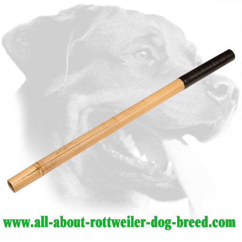Rottweiler Agitation Training Stick Made of Bamboo