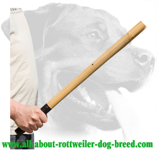 Rottweiler Schutzhund Training Stick Made of Bamboo