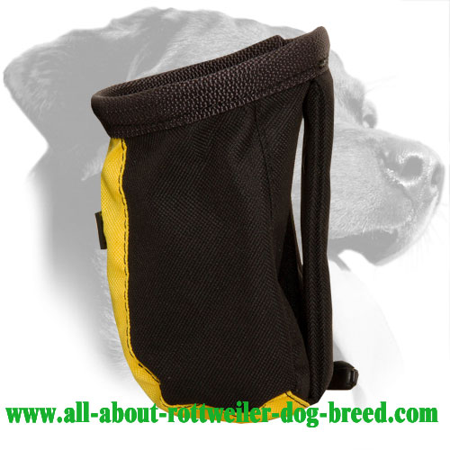Nylon Rottweiler Treat Bag Equipped with Belt Clip
