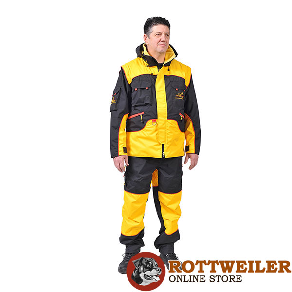 Bite Suit of Wind Resistant Membrane Fabric for Training