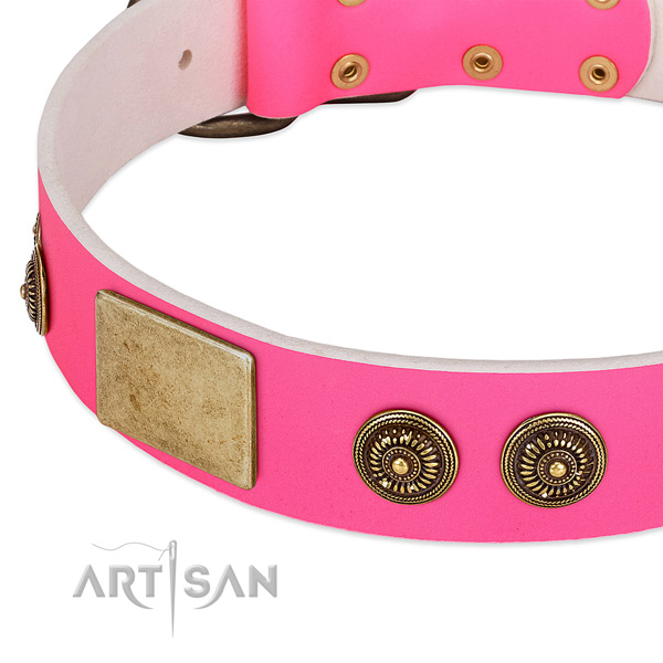 Stylish design dog collar handcrafted for your stylish pet