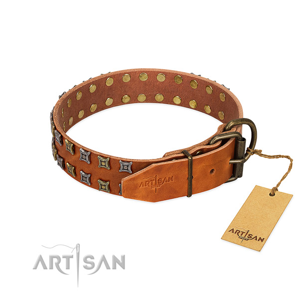 High quality leather dog collar crafted for your canine