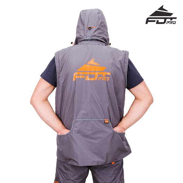 Professional Dog Trainer Jacket with Back Pockets for Any Weather Conditions