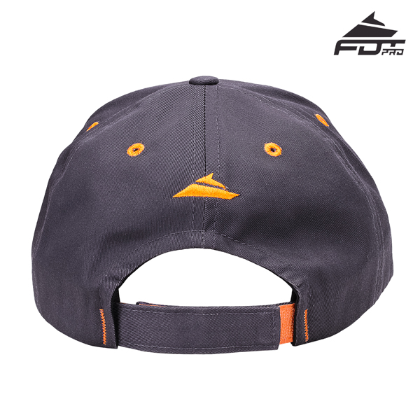 Adjustable One-size Snapback Cap of Dark Grey for Dog Walking
