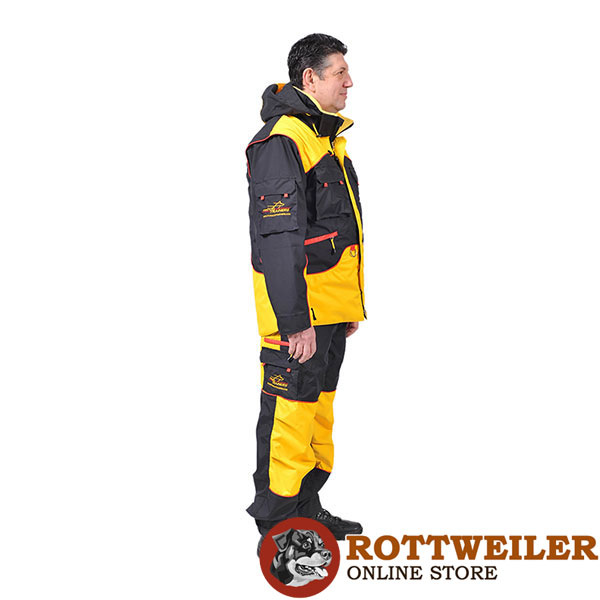 Comfortable Dog Training Suit with Back Pockets