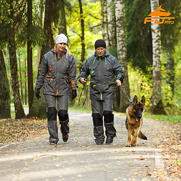Unisex Reliable Dog Tracking Suit for Men and Women with Reflective Trim