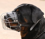 Wire Basket dog muzzle for Rottweiler - best muzzle