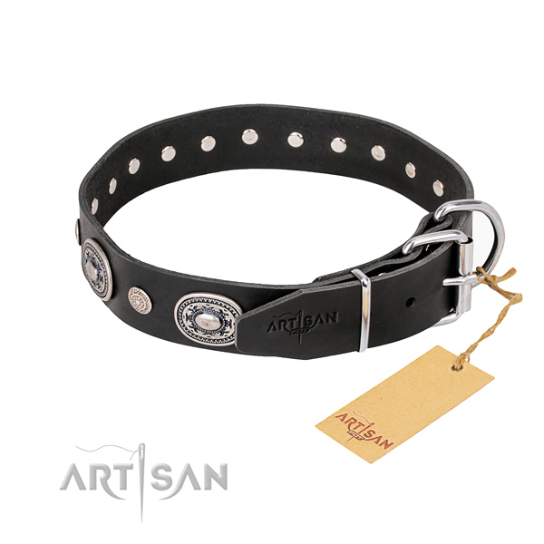 Awesome leather collar for your noble canine