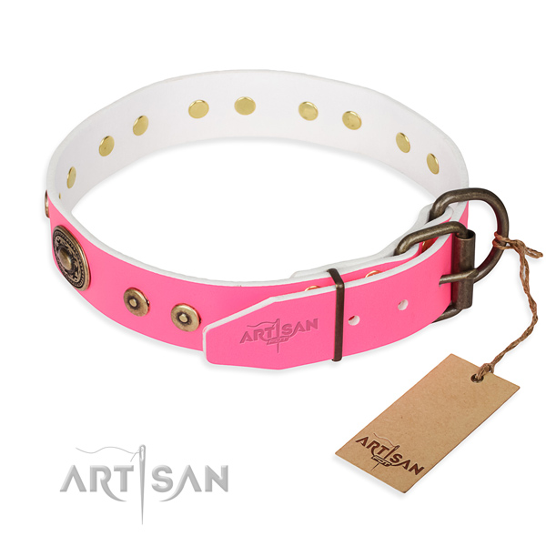 Durable leather collar for your favourite canine