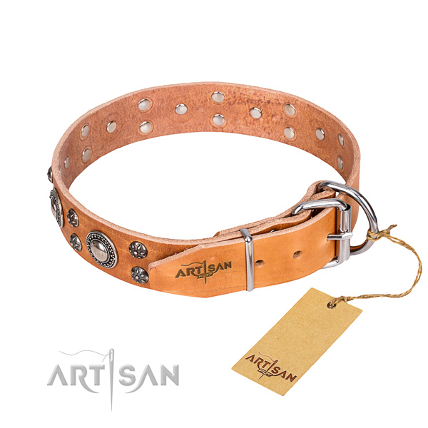 Wear-proof leather collar for your darling dog
