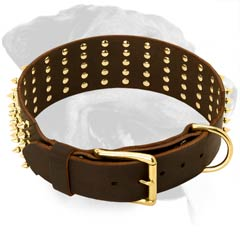 Superb Rottweiler Leather Dog Collar