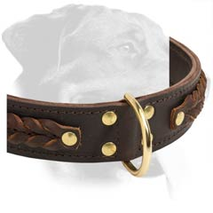 Non-toxic Rottweiler Leather Collar