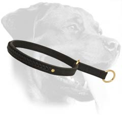 Strong Rottweiler Leather Dog Collar
