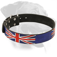Rottweiler Collar Made of Leather Decorated with All Weather Paint